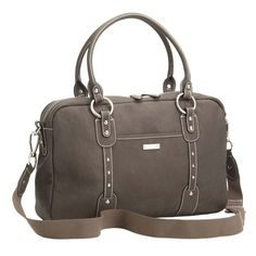 Storksak Elizabeth Leather Diaper Bag - Walnut | Designer Diaper Bags www.duematernity.com