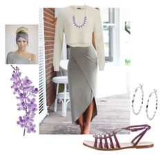 casual Lavendar by cilla-dan-creations on Polyvore featuring 2NDDAY, Yves Saint Laurent, Jewel Exclusive, Pink Mascara, Three Bird Nest and Laura Cole