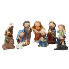 a84fc2a6d Northlight 3.5 in. Durable Children's First Religious Nativity Christmas  Gift Set (9-Piece)