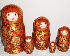 Russian author's  nesting dolls matryoshka in от Artworkshop1