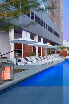 Pull up a lounger after grabbing a drink from the adjacent bar at WET Pool. W Austin (Austin, Texas) - Jetsetter