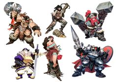 B-Sieged board game character designs. More info at www.b-sieged.com