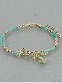 Teal Hope Bracelet from P.S. I Love You More Boutique