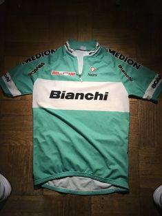 Vintage Nalini Bianchi Cycling Jersey Mens L  41fd73b35