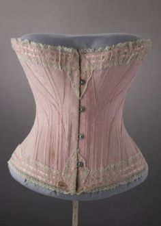 Trousseau corset, 1901. Silk jacquard, ribbon, lace. Marshall Field & Co. Gift of Mrs. John Roger Williams. 1951.412  Artists/Makers Marshall Field & Company (distributor)  Title Corset  Place of Origin Chicago (Ill.)  Date 1901  Corset :: Costume and Textile Collection