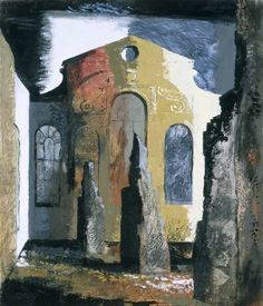 Christ Church, Newgate Street, London by John Piper, 1941