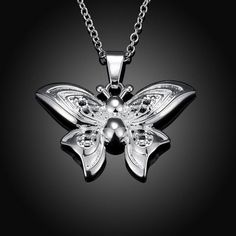 Butterfly sterling silver pendant necklace $6.99  #sterlingsilver #sterlignsilverbutterfly #sterlingsilverpendant