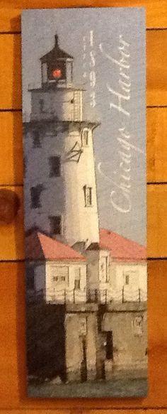 Chicago Harbor Lighthouse Sign- Medium