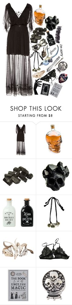 """""""""""They don't call me weird for no reason darling."""""""" by kaninekiller ❤ liked on Polyvore featuring Talitha, ThinkGeek, Macabre Gadgets, Hourglass Cosmetics, Hot Topic, Anine Bing, CO, Killstar and Valentino"""