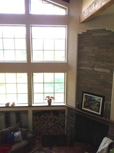 Main living area with fireplace