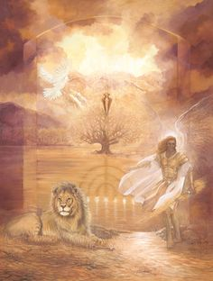 """Gate of Access"" 18 inch X 24 inch Giclee print on canvas - Click Image to Close Bible Pictures, Jesus Pictures, Jesus Art, Jesus Christ, Lion Of Judah Jesus, Braut Christi, Kingdom Hearts Art, Bride Of Christ, Prophetic Art"