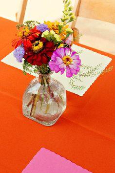 PATRON BOTTLE doubles as DIY Wedding VASE! A Bohemian Mexican-American Wedding