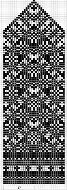 Mustrilaegas: A Kudumine / Knitting fair isle knit chart Crochet Mittens Free Pattern, Knit Mittens, Crochet Chart, Filet Crochet, Knitting Socks, Hand Knitting, Knitting Charts, Knitting Stitches, Knitting Designs