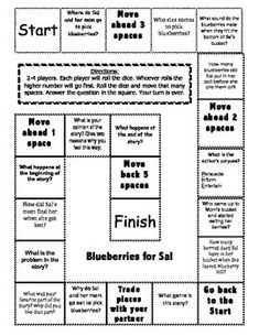 "This game board features comprehension questions and vocabulary from the story ""Ah, Music."" The kids love to play these board games! I have comprehension board games for all of grade Journey's. Check out my store to view more comprehension games! Ramona Quimby, Blueberries For Sal, Schools Around The World, Comprehension Questions, Reading Comprehension, Comprehension Activities, Classroom Activities, Reading Centers, Board Games"