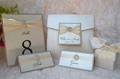 Wedding invitation brooch