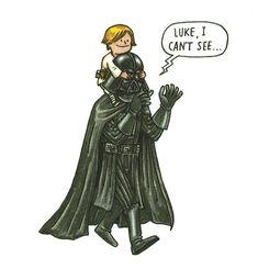 Todo mundo só enxerga o lado negro da força de Darth Vader. Mas, poxa, ele é um cara maneiro, um bom pai.