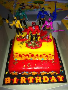 easy cupcakes ideas with power rangers | Sofia Cakes: Power Rangers Samurai Tiered Cake