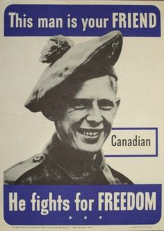 This Man is Your Friend Canadian, 1942 - original vintage poster (one of a series) listed on AntikBar.co.uk