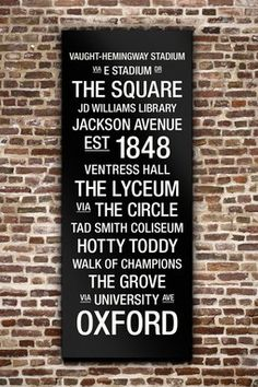 """Ole Miss College Town Wall Art - 40"""" x 16"""""""