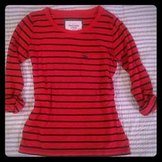 3/4 sleeves striped shirt Cute and casual Abercrombie & Fitch Tops Tees - Long Sleeve