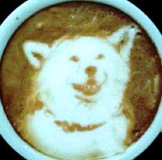 :*¨¨*:·. Coffee ♥ Art .·:*¨¨*: Wolf latte