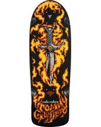 Bones Brigade Tommy Guerrero Flames Reissue Deck Black - 9.6 x 29.18