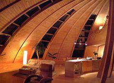 Interior de un hogar domo