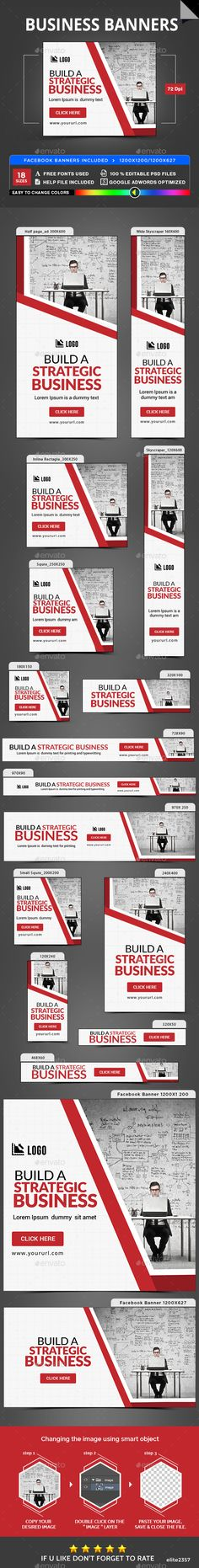 Business Banners — Photoshop PSD #retargeting #banners • Available here → https://graphicriver.net/item/business-banners/20191837?ref=pxcr