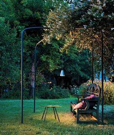 LED outdoor lighting garden pergola album black pendant lamp bench