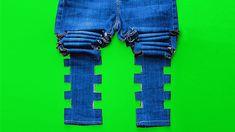 Increíbles DIYs con Jeans que pueden convertirse en ropa nueva Todas las chicas tenemos al menos 3 pares de jeans en nuestros armarios, así que ¿por qué no idear algunas ideas increíbles para reutilizarlas? 5 Minute Crafts Videos, Craft Videos, Simple Designs To Draw, Diy Fashion, Fashion Outfits, Clothing Hacks, Easy Diy Crafts, Refashion, Pants