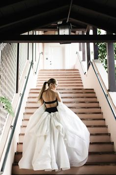 Dress in a black and white nontraditional wedding dress by Vera Wang for a totally timeless feel. Stunning Wedding Dresses, Country Wedding Dresses, Modest Wedding Dresses, Weeding Dress, Wedding Dress Sleeves, One Shoulder Wedding Dress, Bridal Gowns, Wedding Gowns, Backless Wedding