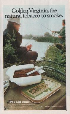 Vintage magazine advertisement, Golden Virginia tobacco, c.1973