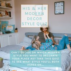 Can't agree on what style to decorate your place? Take this quick, fun quiz to discover your modern interior design style as a couple! You don't need to love ultra-modern, if you like rooms with furniture that has straight lines mixed with some fun pieces, then your aesthetic is modern vs traditional. #marriage #relationship #homedecor #stylequiz