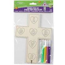 Crafter's Square Wooden Cross Kits with Markers at Deals