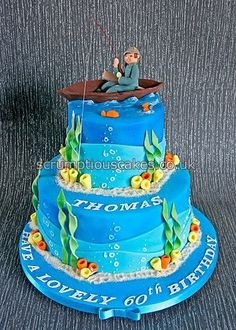 Fishing Theme Birthday Cake - PJ x