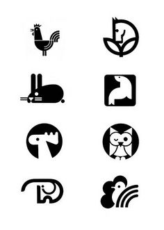 Vintage Animal Logos--I love that rabbit