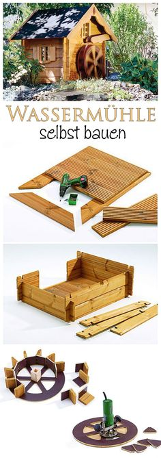Use Pallet Wood Projects to Create Unique Home Decor Items – Hobby Is My Life Unique Home Decor, Diy Home Decor, Wood Crafts, Diy And Crafts, Diy Water Fountain, Custom Sheds, Water Mill, Le Moulin, Little Houses
