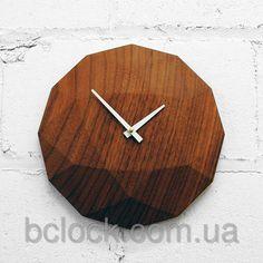 """Оригинальные настенные часы из дерева от компании """"B`Clock"""". Bclock.com.ua"""