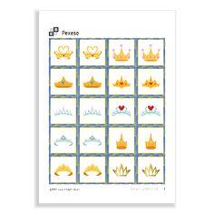 Memory Game of the serie Princesses. Memory Games, Memories, Crowns, Princesses, Memoirs, Souvenirs, Princess, Crown, Remember This