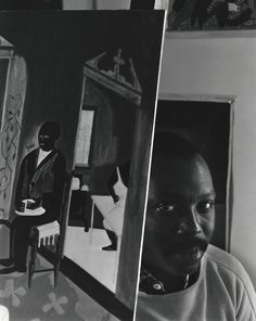 """Jacob Lawrence, New York, NY, 1959 by Arnold Newman. """"All artists are constantly looking for something and they don't always know what."""""""