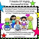 This 7 Habits product will help you develop tomorrow's leaders!   There are 250 slides filled with interactive activities to use in your classroom....