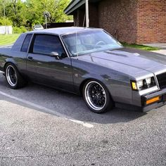 Clean grey buick grand national gm gbody
