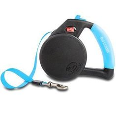 Wigzi LRGGL-BL Gel Retractable Dog Leash for Dogs Upto 110 lb, Large, Blue * Trust me, this is great! Click the image. : Dog leash
