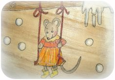 Holzkiste, Maus, Jahreszeitentisch von Susannelfes Blumenkinder  auf DaWanda.com