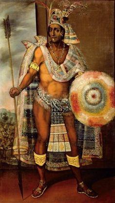 Montezuma - Geboren rond 1398, gestorven rond 1469. De leider van de Azteken. Zij beschouwden hem als een God.