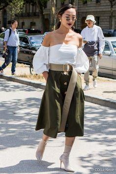 Chriselle Lim Dior Haute Couture Street Style Paris Fashion Week AW17