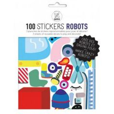 Robot Wall Stickers - Set of 100 Omy Children- A large selection of Design on Smallable, the Family Concept Store - More than 600 brands.