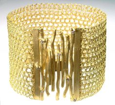 Diamonds and Woods Woven Bracelet