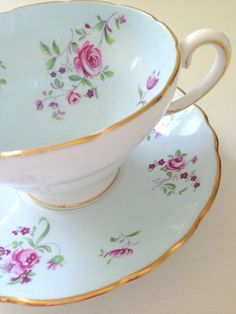 English Fine Bone China Crown Staffordshire Tea by MariasFarmhouse