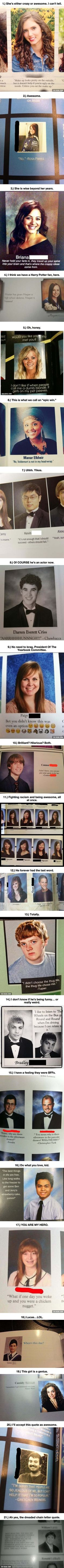 Yearbook quotes. Just yes.